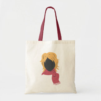 Red Scarf Woman Tote Bag