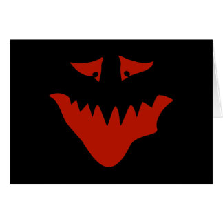 Red Scary Face. Monster. Card