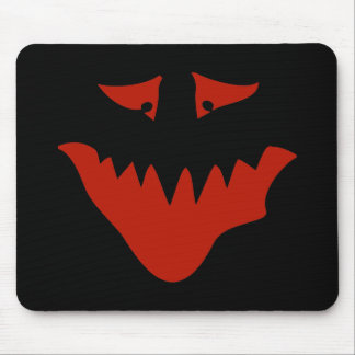 Red Scary Face. Monster. Mouse Pad