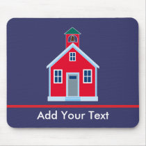 Red School House Mouse Pad