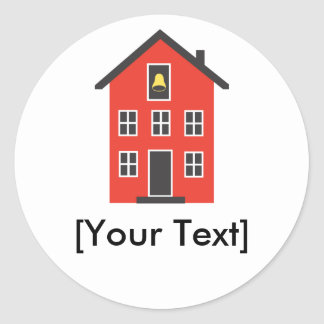Red School House Sticker