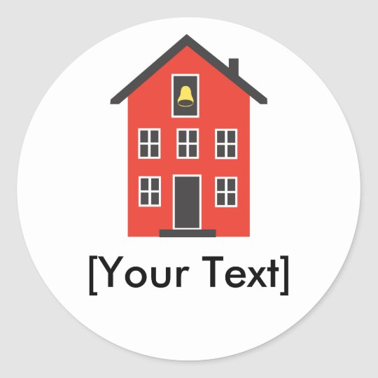 Red School House Sticker