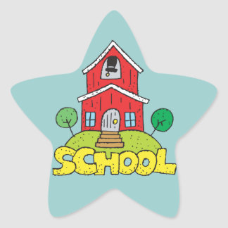 Red School House Star Stickers