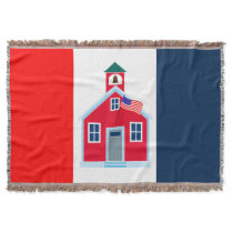 Red School House Throw