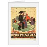 Red Schoolhouse Amish 1938 WPA Card