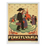 Red Schoolhouse Amish 1938 WPA Poster
