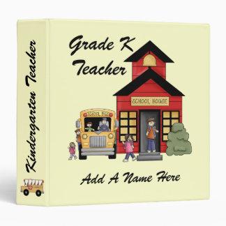 Red Schoolhouse Kindergarten Teacher Binder