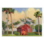 Red Schoolhouse note card