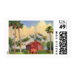 Red Schoolhouse postage stamp