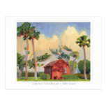 Red Schoolhouse postcard