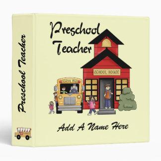 Red Schoolhouse  Preschool Teacher Binder