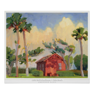 Red Schoolhouse print