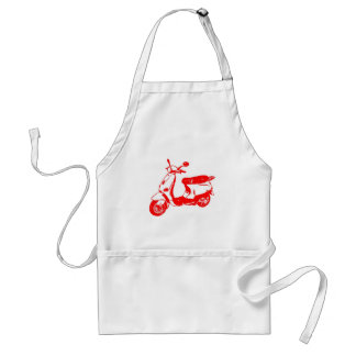 Red Scooter Adult Apron