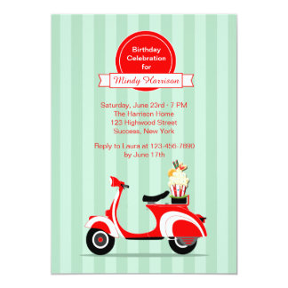 Red Scooter Invitation