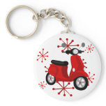 Red Scooter Keychain