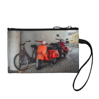 Red scooters in Berlin Change Purse