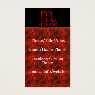 Red Scorpio Horoscope Symbol Business Card