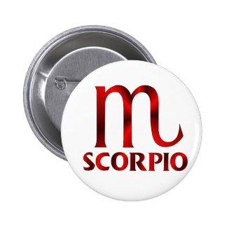 Red Scorpio Horoscope Symbol Pin