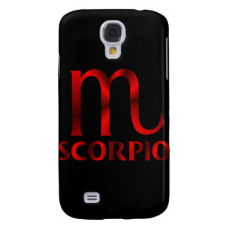 Red Scorpio Horoscope Symbol Galaxy S4 Case