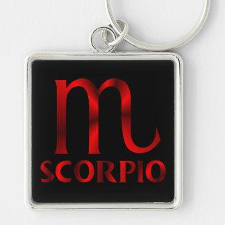 Red Scorpio Horoscope Symbol Keychain