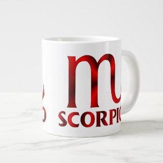 Red Scorpio Horoscope Symbol Large Coffee Mug