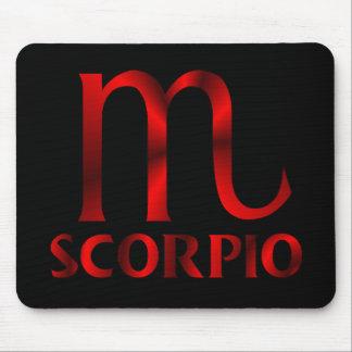 Red Scorpio Horoscope Symbol Mouse Pad