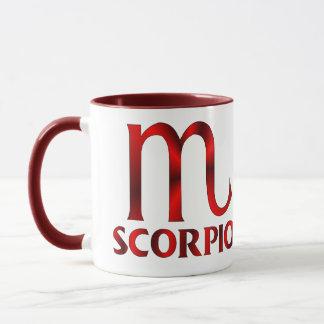 Red Scorpio Horoscope Symbol Mug