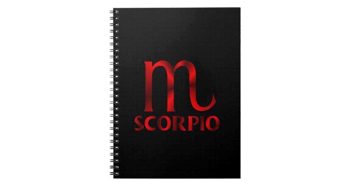 Red Scorpio Horoscope Symbol Notebook Zazzle
