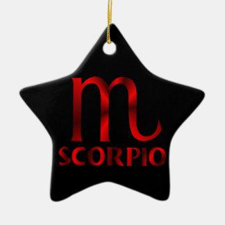 Red Scorpio Horoscope Symbol Ornament