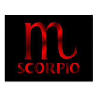 Red Scorpio Horoscope Symbol Postcard