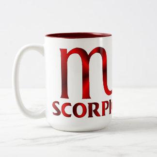 Red Scorpio Horoscope Symbol Two-Tone Coffee Mug