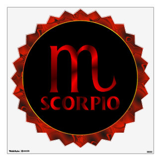 Red Scorpio Horoscope Symbol Room Sticker