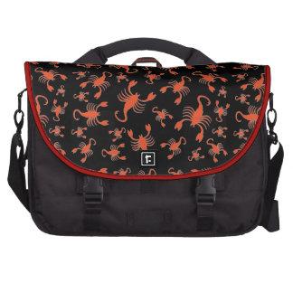 Red scorpions pattern laptop bag