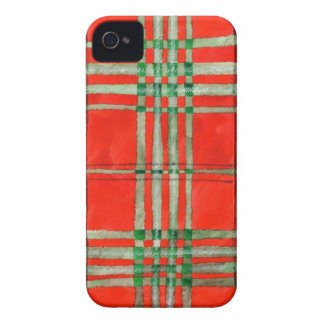 Red Scott Tartan iPhone 4 Cover