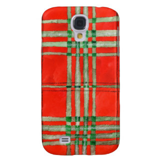 Red Scott Tartan Samsung Galaxy S4 Case