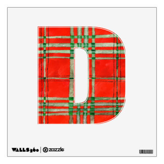 Red Scott Tartan Wall Decal