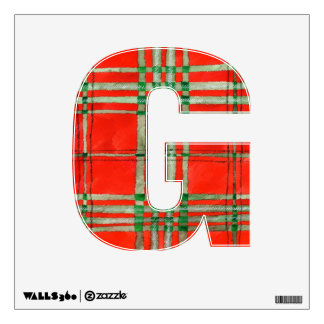 Red Scott Tartan Wall Sticker