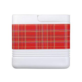 Red Scottish Plaid Drink Cooler