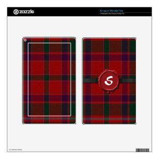 Red Scottish Tartan Plaid Kindle Fire Skin