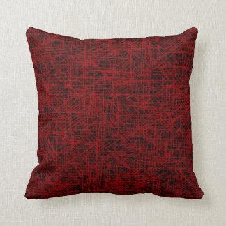 """Red """"Scratch"""" Pillow"""