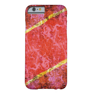 Red scratched wall and yellow lines iphone 6 case barely there iPhone 6 case
