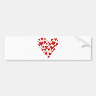 red scribble heart bumper sticker