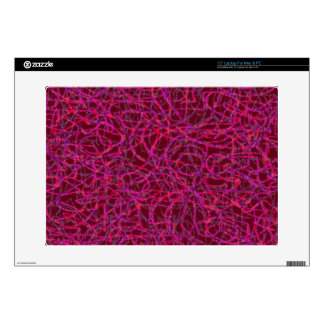 Red scribbled lines pattern laptop decals