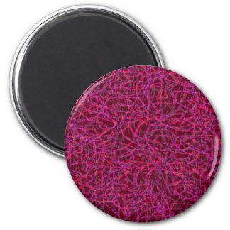 Red scribbled lines pattern magnet