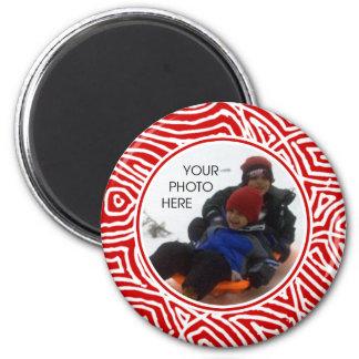 Red Scribbleprint Border Magnet