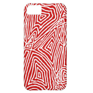 Red Scribbleprint Case For iPhone 5C