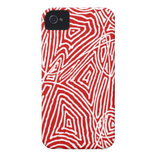 Red Scribbleprint iPhone 4 Cover