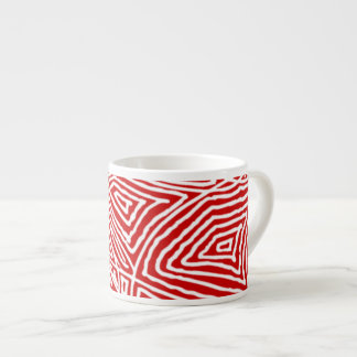Red Scribbleprint Espresso Cup