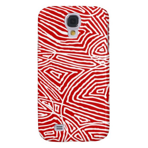 Red Scribbleprint Galaxy S4 Covers