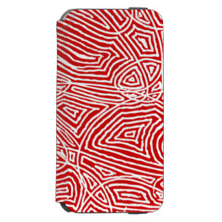 Red Scribbleprint iPhone 6/6s Wallet Case